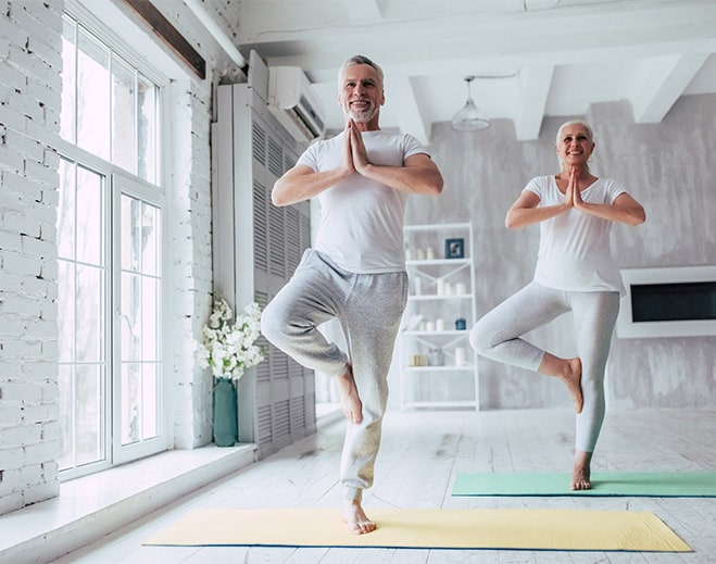 couple doing yoga