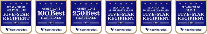 Healthgrades 2019 award badges